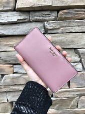 Kate Spade Cameron Large Slim Bifold Leather Wallet Dustypeony WLRU5444