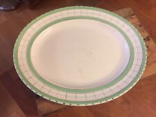 Vintage British Anchor Cottage Green – Large Oval Meat Plate / Platter – Great!