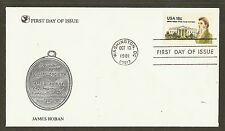 #1935 18c James Hoban - Readers Digest FDC
