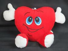 SMILEY RED HEART HUGFUN STUFFED VALENTINE LOVERS GIFT PLUSH TOY STITCHED EYES
