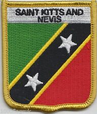 Saint Kitts and Nevis Flag Shield Embroidered Patch Badge