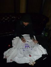 Viva La Bam Margera Signed Element Skateboards White Shirt M PSA/DNA COA Jackass