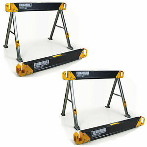 2 Pack Portable Folding Work Table Heavy Duty Saw Horse Durable Pivoting Feet St