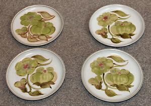 Denby Stoneware 4 medium side plates 21 cms Troubadour pattern