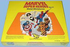 MARVEL FIGURES METAL MINIATURES - TSR - SET #1 - 1984 - MINT IN A SEALED BOX