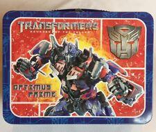 Transformers Optimus Prime Revenge Of The Fallen Lunch Box 2009