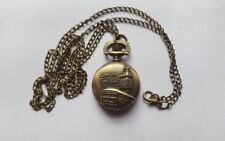 MINI Bronze LONDON BIG BEN Watch  Necklace Pendent Retro + Free Velvet Pouch