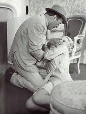 "1964 Original Photo Christiane Minazzoli & Eddie Constantine in ""Lucky Jo"" film"