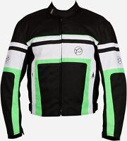 Buffalo Retro Black Green Textile Waterproof Motorcycle Jacket New £69.99!!