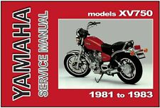 YAMAHA Workshop Manual XV750 & XV750S 1981 1982 1983 Maintenance Service Repair