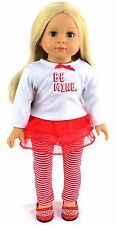 """Valentine """"Be Mine"""" Leggings Pant Set fits 18 inch American Girl Doll Clothes"""