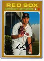 Darwinzon Hernandez 2020 Topps Heritage 5x7 Gold #381 /10 Red Sox