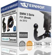 ATTELAGE démontable BMW F31 Break de 2012 + FAISC.UNIV.7-broches NEUF