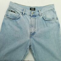 HUGO BOSS MONTANA Mens  Vintage Jeans W32 L34 Blue Relaxed Straight