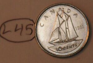 Canada 1991 10 cents Elizabeth II Canadian Dime Lot #L45