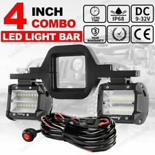 Tow Hitch Backup Bracket+ 4INCH LED Work Light Bar Driving Reverse For Truck Car