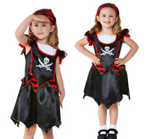Kids Pirate Costume Toddler Deckhand Captain Hook Fancy Dress Girls Age 1-4