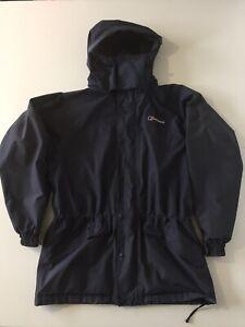 Mens Berghaus Gore-tex GTX Waterproof Hooded Jacket Navy Blue Coat Size M Medium