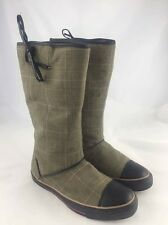 Ladies Canvas Prince Of Wales Check Boots By Converse Size 8UK
