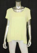 BETSEY JOHNSON NWT Performance Yellow Short Sleeve Cutout Athletic Shirt sz L