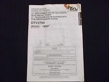 New listing Tv Owner's Manual Ilo Dtv2794