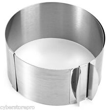 Retractable Stainless Steel Circle Adjustable Cake Pan Mold Home Baking Tool