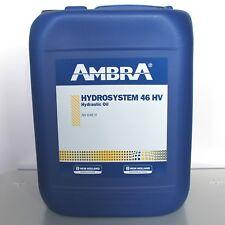 AMBRA HYDROSYSTEM 46 HV DA 20 LT.  OLIO IDRAULICO ANTIUSURA ANTISCHIUMA TRATTORE