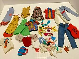 BIG Vintage Mixed Lot Of Barbie Clothes & Accessories - 1970's to 1980's