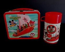 1977 Vintage Disney Mickey Mouse Club Lunchbox Thermos Gem Mint C10 Unused NOS !