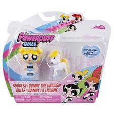 Las Chicas Superpoderosas Muñecas de acción 2 in (approx. 5.08 cm) - burbujas y Donny El Unicornio