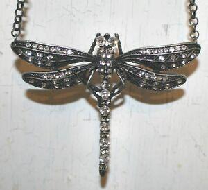 Antique NoA  NoA Art Nouveau Dragonfly pendant necklace 30 cm; pendant 6x7cm