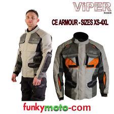 Blousons gris textile pour motocyclette