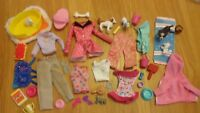 *Barbie Bundle Of Pet Dolls Clothes,Plus Pets & Accessories*