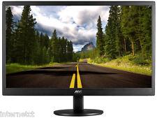"""NEW AOC E2470SWDA 24"""" HD WIDESCREEN SLIMLINE LED PC COMPUTER DESKTOP MONITOR VGA"""
