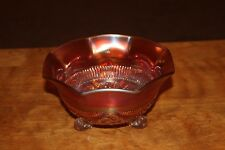 NORTHWOOD Marigold Carnival 3 footed Glass Bowl - 6 1/2""