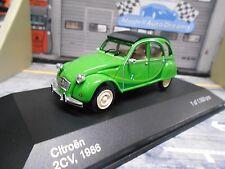 """CITROEN 2CV 2 CV Ente grün 1980 """" i fly bleifrei """" IXO White Box S-Preis 1:43"""