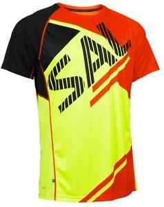 Salming Bold Print Short Sleeve Mens Running Top - Orange