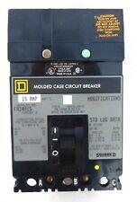 SQUARE D CIRCUIT BRAKER, FA34015, I-LINE MOLDED CASE, 15 AMP, 480 VAC, 3 POLE