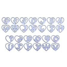 2x Love Heart Letter Metal Cutting Die Stencil DIY Scrapbooking Album Paper Card