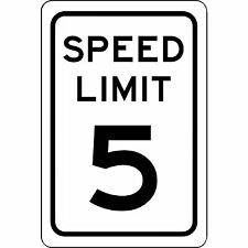 "Speed Limit 5 MPH Sign - New 8"" x 12"" Aluminum Road and Street Sign - No Rust"