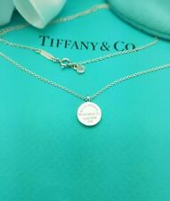 """Return to Tiffany & Co Sterling Silver Circle Pendant 18"""" Necklace Hallmarked!!!"""