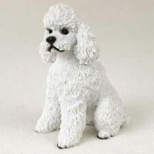 Poodle Figurine Hand Painted Collectible Statue White Sport