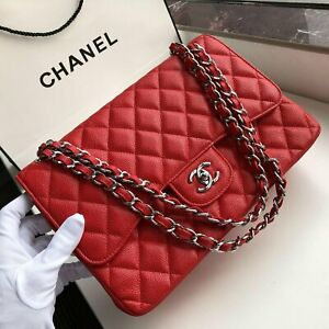 CHANEL CLASSIC FLAP BAG RED