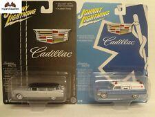 Johnny Lightning 1959 Cadillac Hearse & 1966 Cadillac Ambulance Hobby Exl 1:64