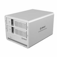 """ORICO Aluminum USB 3.0 2 bay 3.5"""" SATA HD Enclosure Support 2x 6TB Drive 9528U3"""
