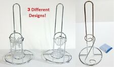 Kitchen Paper Towel Holder Chrome Finish Stand Counter Top Rolls Home Office NEW