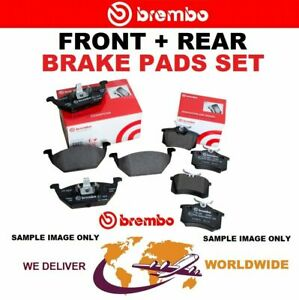 BREMBO FRONT + REAR Axle BRAKE PADS for JAGUAR S-TYPE 4.2 Supercharged 2001-2008