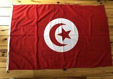 Vintage Large TUNISIA Flag 3ft x 4.7ft Tunisian