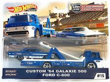 Hot Wheels 2019 Team Transport Custom '64 Calaxie 500 & Ford C-800 1/64 Diecast