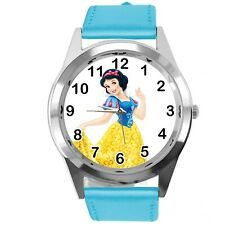Princess Snow White Disney FILM MOVIE FAIRY TALE CD DVD TV BLUE LEATHER WATCH